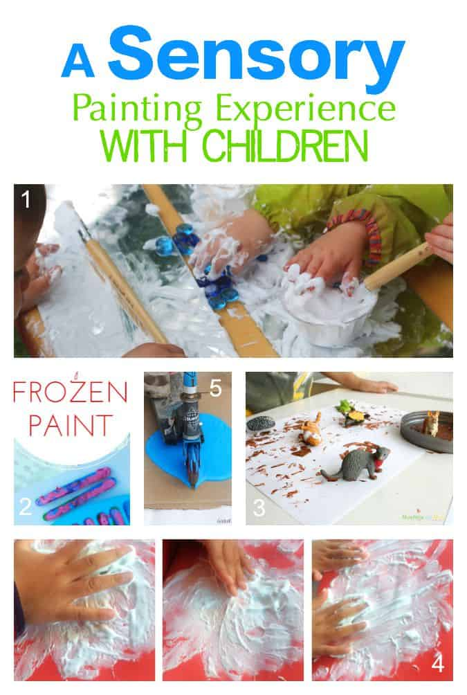 Creating a sensory experience even with the most simple painting ingredients