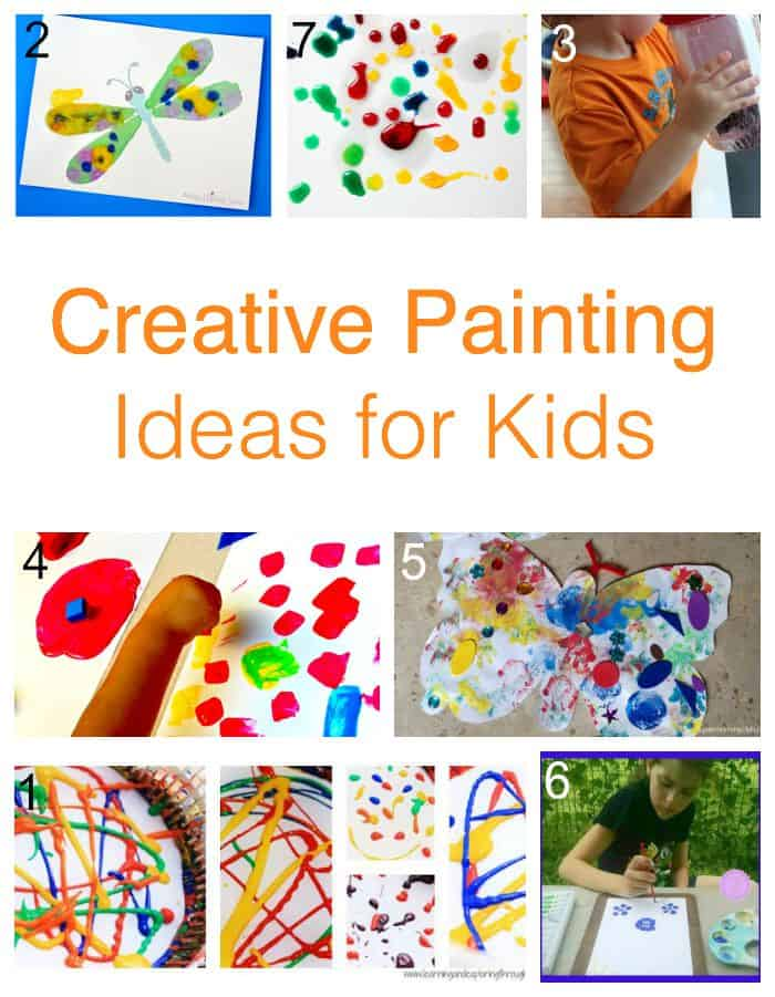 Great Kids painting resource = part of the 171 painting ideas for kids Paint-A-Thon