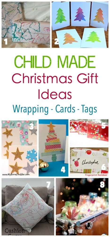 Christmas Child Made DiY Wrapping - Tags and Card Ideas