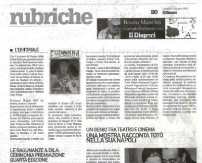 Il Dispari 2017-06-12 Editoriale Eudonna: Giugno 2017 Con il numero di Giugno della rivista Eudonna, prossimamente in edicola,