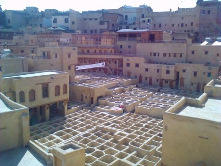 Tanneries in Fes.