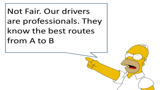 Taxi drivers know the best way