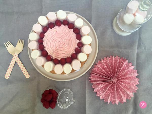 Layer cake Chamallows et framboises