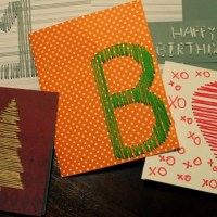 Hand-Stitched Greeting Cards