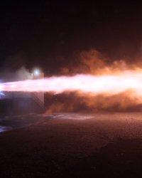 El motor Raptor puesto a prueba.  Créditos: Elon Musk.