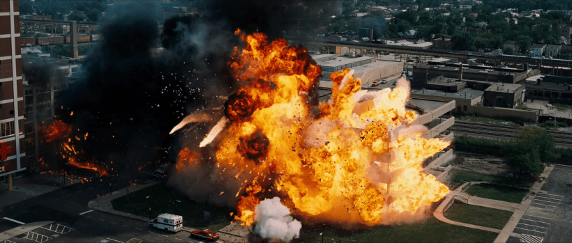 Movie explosion special effects.