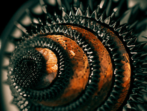 Ferrofluid sculpture; ferrofluidics is being studied in relation to everything from computer components to biomedical applications to the understanding of the multiverse.