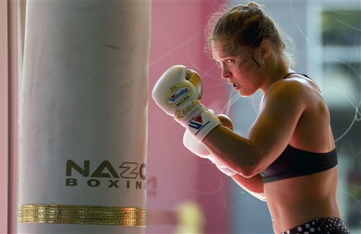 Ronda Rousey training, courtesy of cbsfwbam.files.wordpress.com (Staying Healthy: Cold Weather, Binge Drinking, and Exercising)