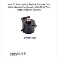 How To Substantially Reduce Encoder Cost While Gaining Functionality With Multi-Turn Rotary Position Sensors