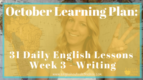 Learn English Online with English Outside the Box 31 daily lessons to improve English writing fluency