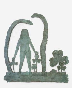 Kiki Smith, Teaching Snakes with Woman, 2011. Bronze Courtesy The Pace Gallery / Walla Walla Foundry Photography Melissa Christy © Kiki Smith