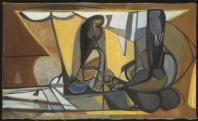 Édouard Pignon, Catalanes au filet, 1946 Huile sur toile 97 x 161 cm Collection Musée des Beaux-arts, La Chaux-de-Fonds, Suisse. Photographie : Pro Litteris 2011 – CH68033 – Zurich/ADAGP 2013.