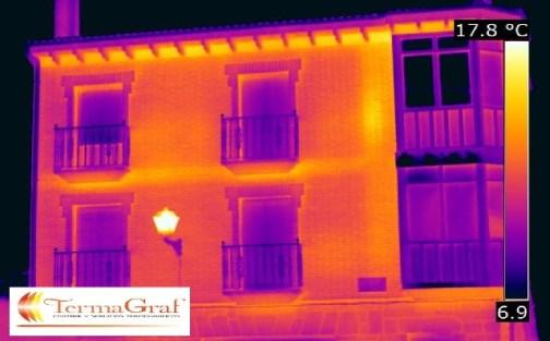 Termografía infrarroja en edificación