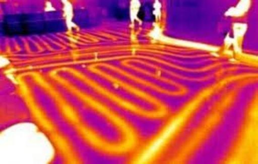 Termografía infrarroja de suelo radianteArquitecto Técnico Paterna. Termografía