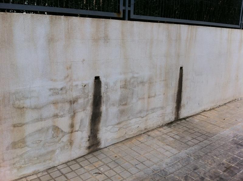 Vierteaguas y Remates contra el agua   Arquitecto Técnico Paterna, Aparejador Paterna