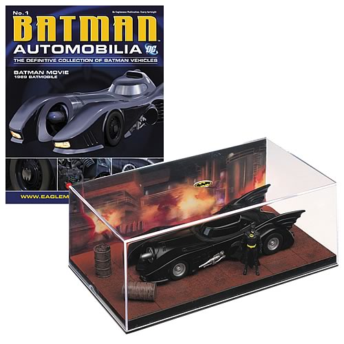 Batman Movie 1989 Batmobile with Collector Magazine