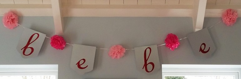 Bebe Banner - French Patisserie Themed Baby Shower