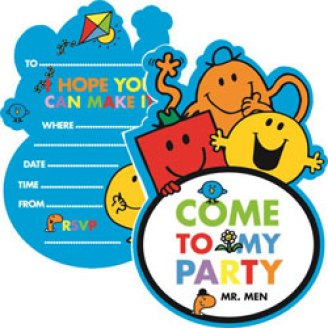 Mr Men Birthday Party - invitation