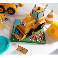 Posh Sticking To Our Construction Med Birthday I Decided To Have Your Own This Was Kids To Createir Own Construction Med Birthday Party Bob Builder Birthday art Construction Birthday Party
