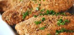 Pollo al ajo al horno con queso parmesano