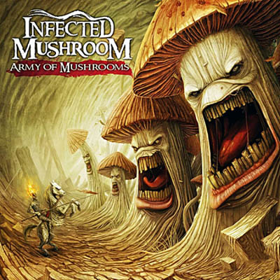 A capa e as músicas de Army of Mushrooms, novo CD do Infected Mushroom