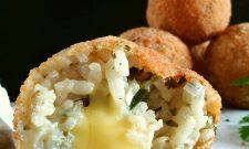 Arancini échalote-persil au parmesan végétal (vegan) (Bataille Food#33)