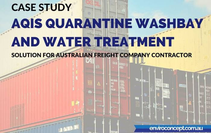 AQIS Quarantine Washbay and Water Treatment