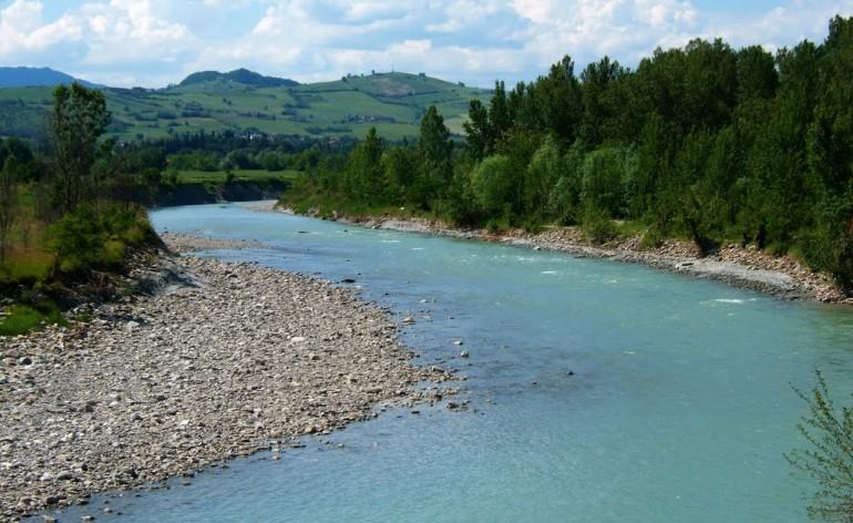 Secchia river in Italy.