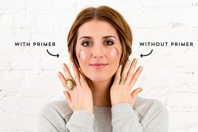 with and without primer beauty mistakes enza essentials beauty blog blogger bblogger beautiful