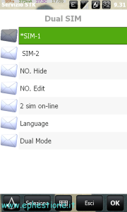 dualsim hd2 menu1