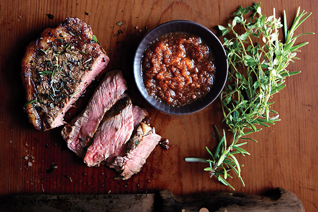 Strip Steak with Japanese Dipping Sauce recipe