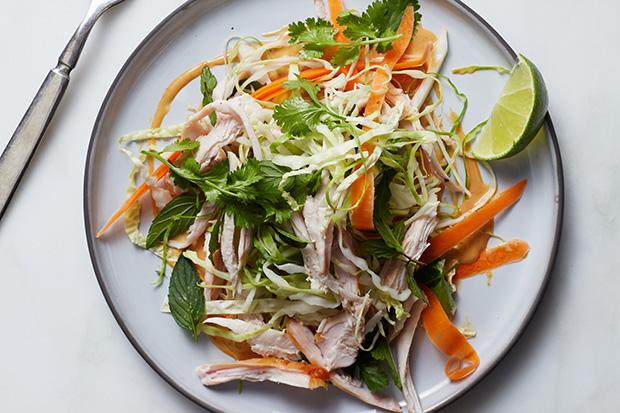 Crunchy Turkey Salad with Peanut Dressing recipe