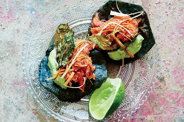 Smoked Swordfish Tostaditas recipe