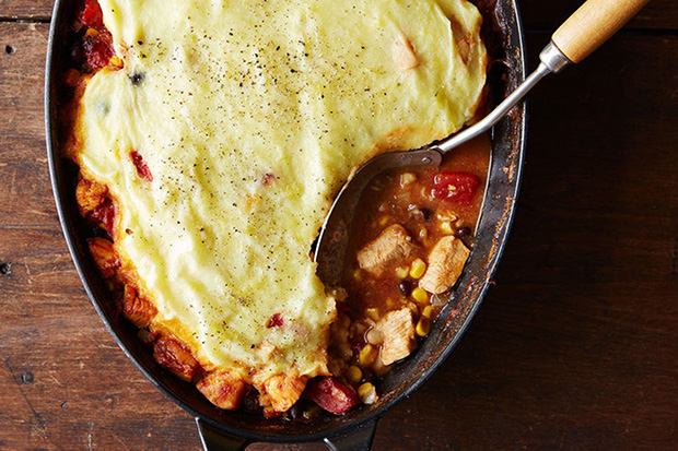 Chicken Tamale Pie recipe