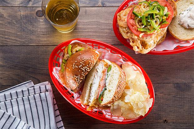 Fried Fish Sandwich with Pepper Slaw recipe