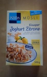 Degustabox Februar Kölln Müsli Knusper Joghurt  Zitrone