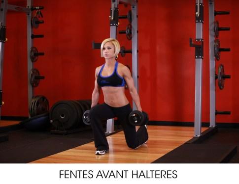 fentes programme musculation femme
