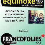 Jérôme et Isa vous invitent : Spéciale Francofolies de Spa