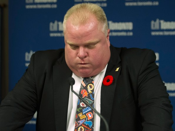 Toronto Mayor Rob Ford Addresses Media, November 5, 2013 following his revelation that he smoked crack cocaine