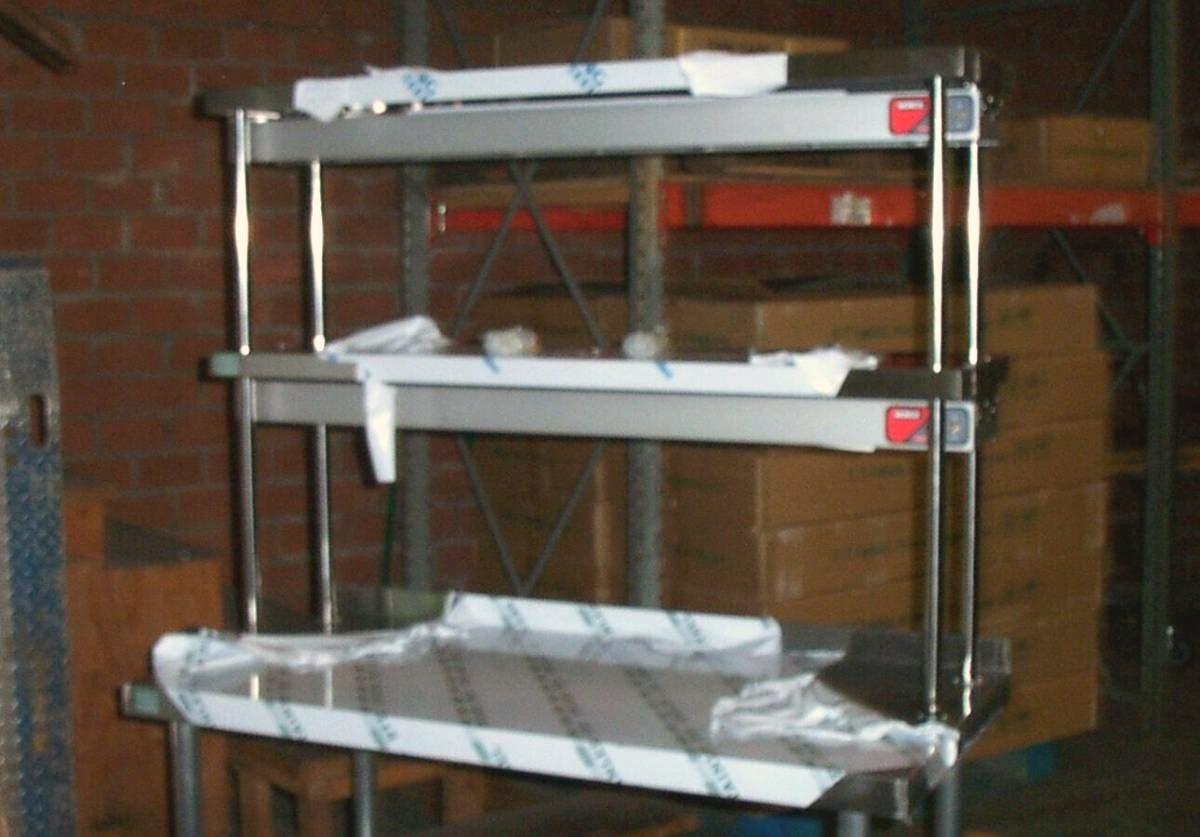 Worktable kitchen prep table commercial overshelf