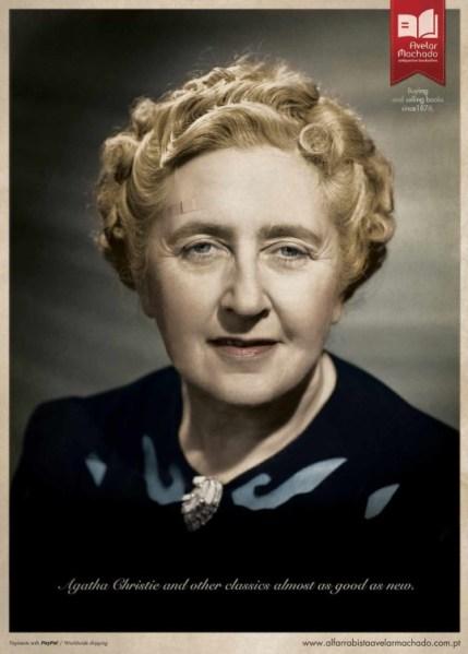 Agatha Christie con una tirita