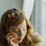 STARBURST UPRIGHT BRIDAL STAR TIARA CELESTIA