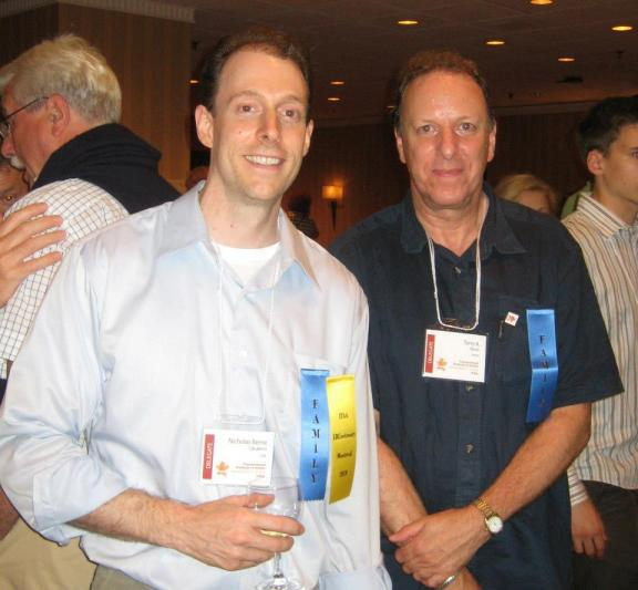 Terry Berne and Nicholas Berne Calcaterra at Eric Berne Centenary Conference, Montreal 2010