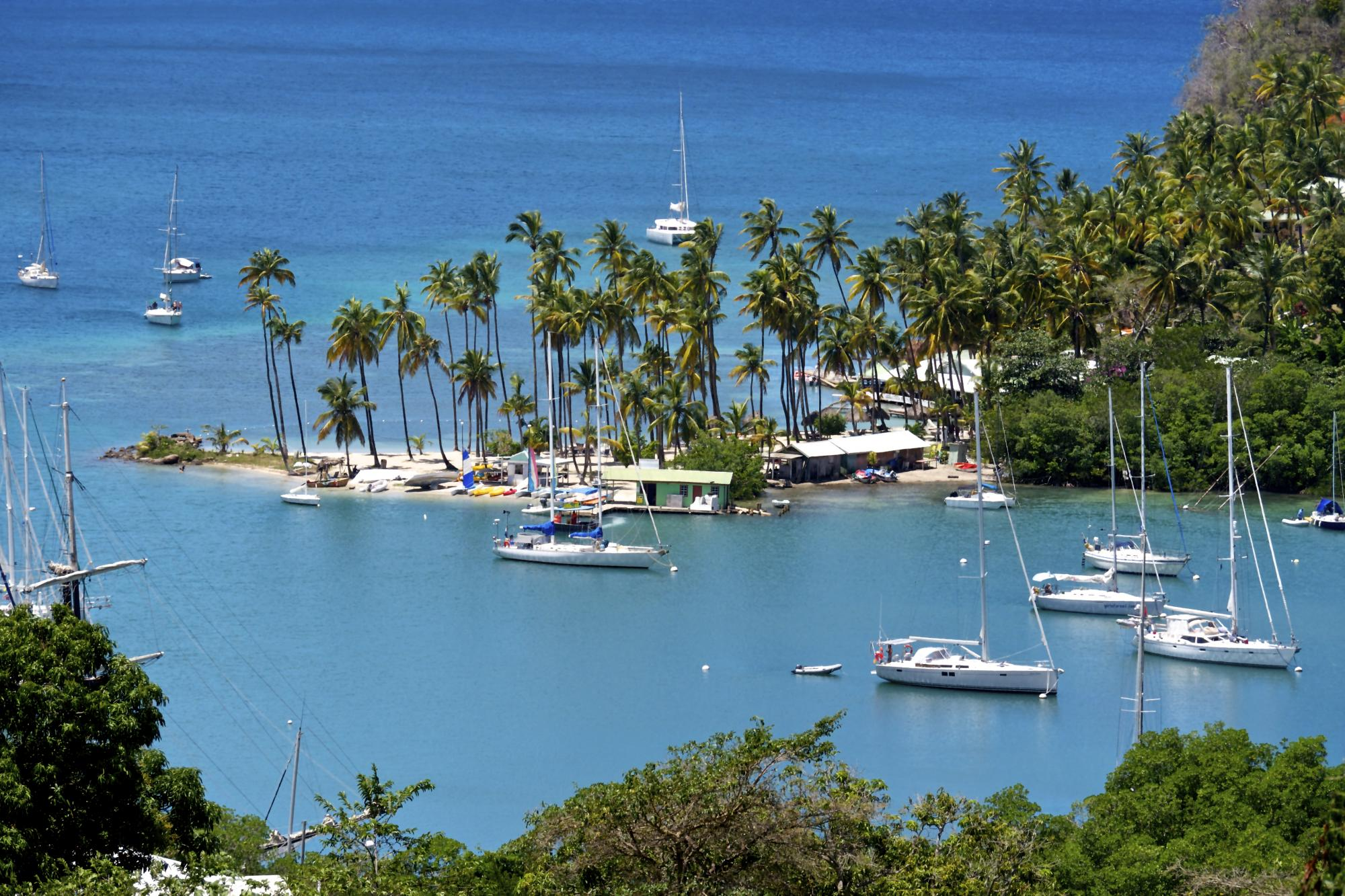 Northern St Lucia: Marigot Bay and Pigeon Island