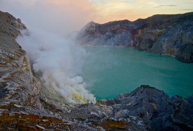 Kawah Ijen Crater at Sunrise