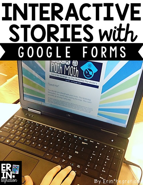 How to use Google Forms to play choose your own adventure style math stories! Differentiated, engaging, and self checking multi-step math practice on Google Forms for all devices. No log in needed!