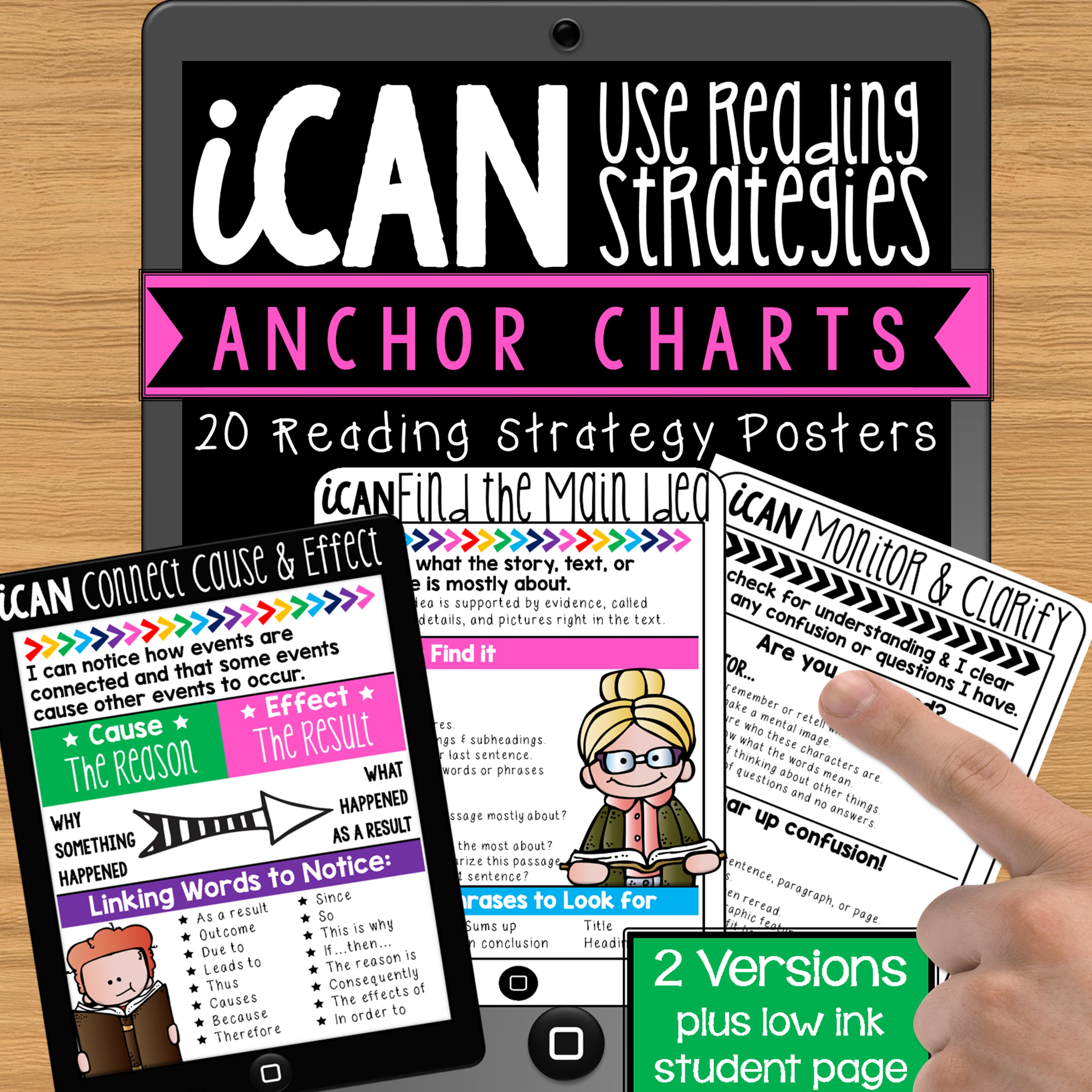 iCan Use Reading Strategies Anchor Charts