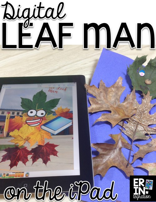 Technology integration for fall! Have students use the free iPad app Pic Collage to make a digital leaf man! Step by step instructions and lesson suggestions.