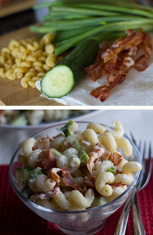 bacon green onion pasta salad