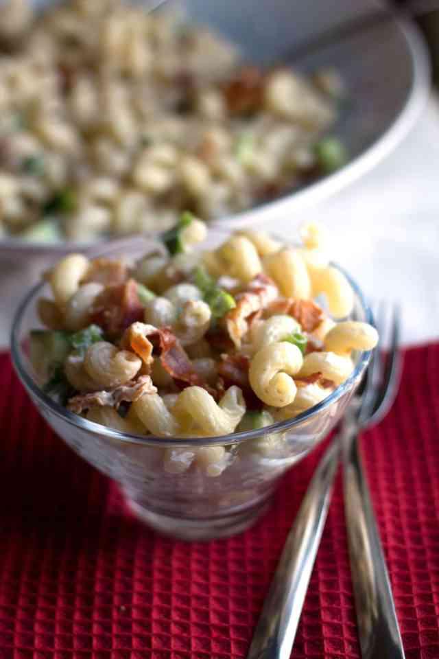 bacon & green onion pasta salad